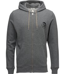 umlt-brandon-z sweat-shirt hoodie trui grijs diesel men