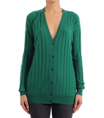 plan c cardigan wool emerald