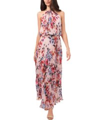 msk floral print pleated dress