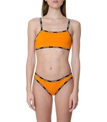 dsquared2 orange nylon swim top
