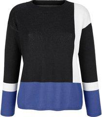 trui alba moda marine::offwhite::royal blue