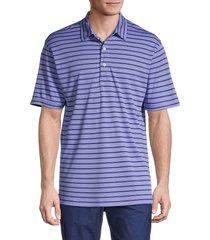 dunning golf men's hexham jersey golf polo - blue - size l
