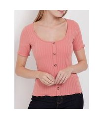 blusa manga curta feminina rosa