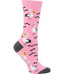 calcetín algodón pelican rosa mujer hush puppies