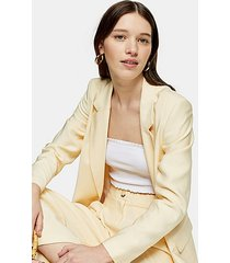 buttermilk single breasted blazer - buttermilk