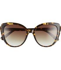 longchamp 55mm butterfly sunglasses in vintage havana/khaki gradient at nordstrom