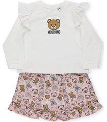 moschino 2 piece set t-shirt and shorts