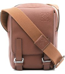 loewe military xs messenger bag - brown