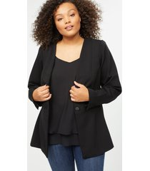 lane bryant women's ponte peplum jacket 24 black