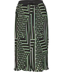 kadamita skirt knälång kjol grön kaffe