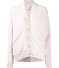 barrie slouchy cashmere cardigan - pink