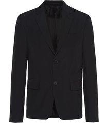 prada technical poplin blazer - black
