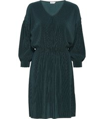 mini pliss evening dress korte jurk groen filippa k