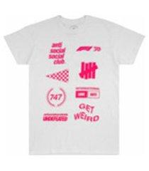 anti social social club camiseta x undftd x f1 - branco