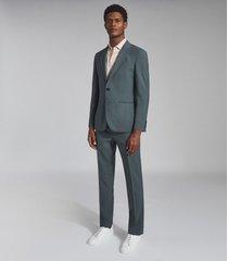 reiss refine - wool modern fit blazer in sage, mens, size 46