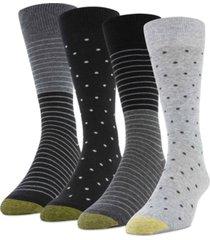 gold toe men's 4-pack dot stripe socks