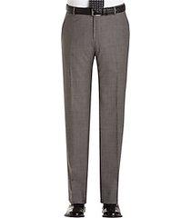 joseph abboud gray sharkskin modern fit suit separate dress pants