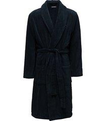 icon bathrobe, lg ochtendjas badjas blauw tommy hilfiger