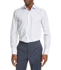 men's big & tall canali trim fit paisley dress shirt, size 18 - white