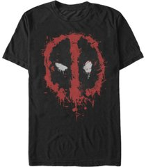 marvel men's deadpool splatter icon, short sleeve t-shirt