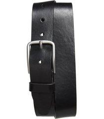 men's nordstrom rhodes leather belt, size 42 - black