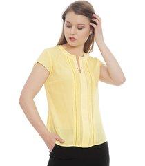 blusa ash amarillo - calce holgado