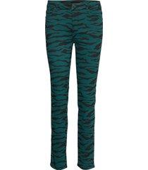 2nd sally cropped zebra skinny jeans grön 2ndday