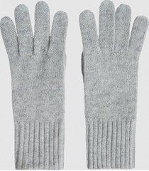 reiss georgia - cashmere gloves in grey, womens