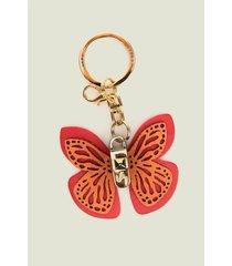 llavero butterfly de cuero para mujer