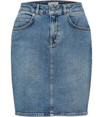 denim rok high waist stretch
