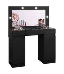 penteadeira com espelho camarim studio preta