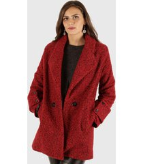 chaqueta ana casual rojo truhana