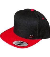 gorra fist con pin plana negro con rojo gfistcap15