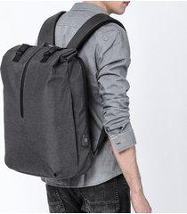 mochila hombres 15.6 pulgadas oxford carga usb antirrobo impermeable-negro