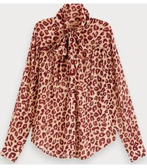 scotch & soda chiffon blouse met print