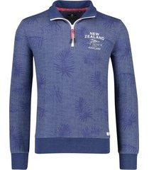 nza sweater pararore blauw geprint