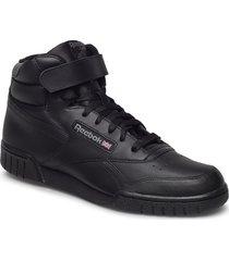 ex-o-fit hi shoes sport shoes high-top sneakers svart reebok classics