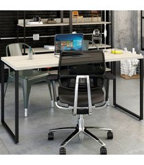 mesa para escritório kuadra snow 140 - compace