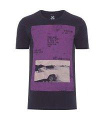 t-shirt masculina rg pink car - preto