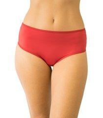calcinha fio duplo cintura alta qtal lingerie básico vermelho
