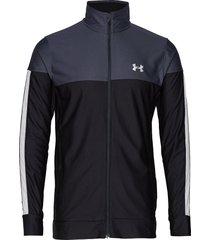 sportstyle pique jacket sweat-shirt trui zwart under armour
