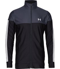 sportstyle pique jacket sweat-shirt trui zwart under armour