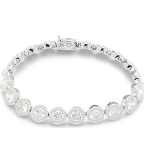 lafonn women's platinum-bonded sterling silver & simulated diamond bracelet