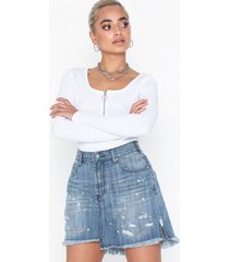 one teaspoon 2020 mini high waist denim skirt minikjolar