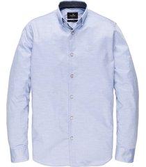 vanguard overhemd blauw met structuur vsi202220/5296 - maat l - maat l - maat l - maat l