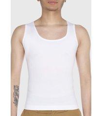 camiseta reductora sin manga blanco baziani