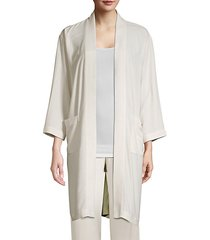 silk georgette crepe kimono jacket