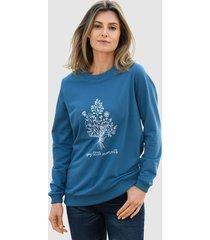 sweatshirt basically you rookblauw