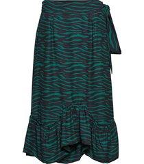 asbjorg knälång kjol grön fall winter spring summer