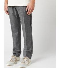 helmut lang men's logo band pull on pants - beuys grey - m